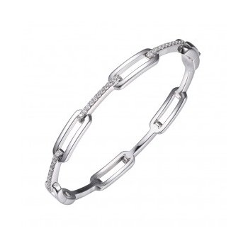 Paperclip Bangle Bracelet