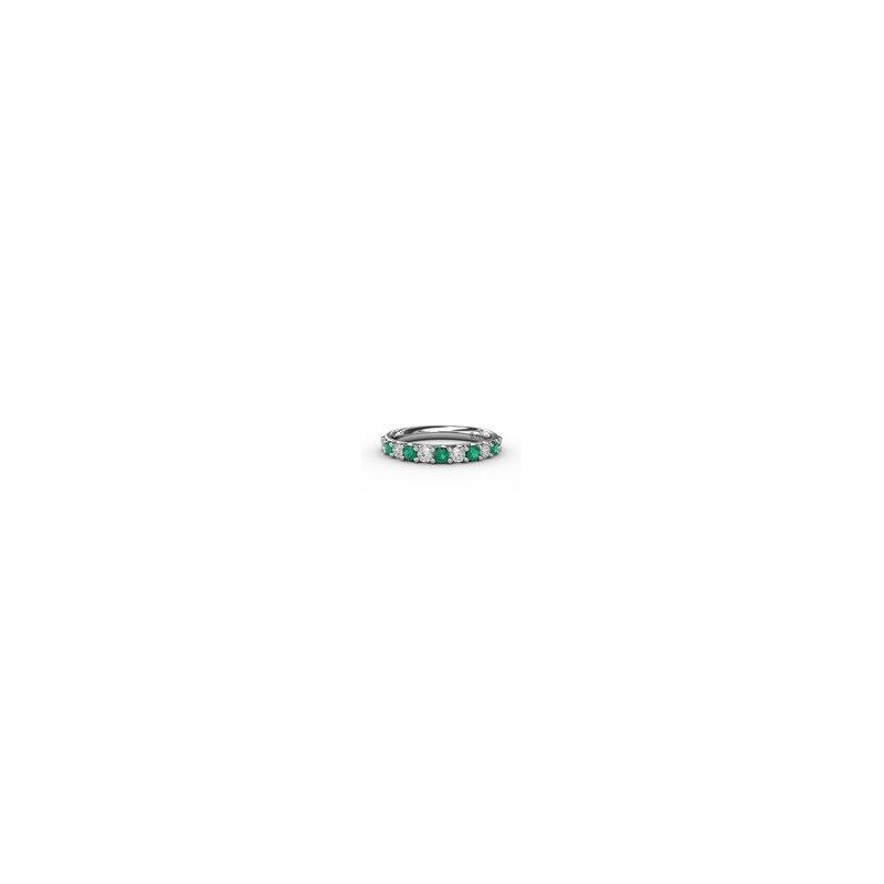 Fana Alternating Emerald & Diamond Band 3/4ctw