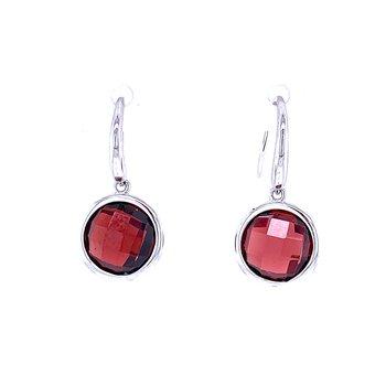 Gem Drops-Garnet Earrings