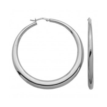 Sterling Silver Electroform Graduated Hoops