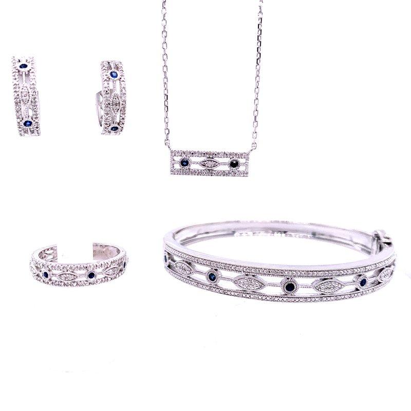 Bryan Beauties Vintage Style Sapphire & Diamond Earrings