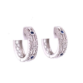 Vintage Style Sapphire & Diamond Earrings