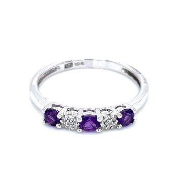 Stackable Amethyst Band
