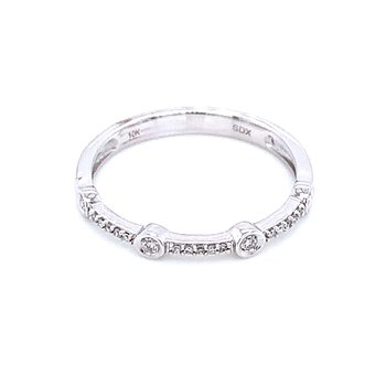 White Gold Diamond Stacker Band
