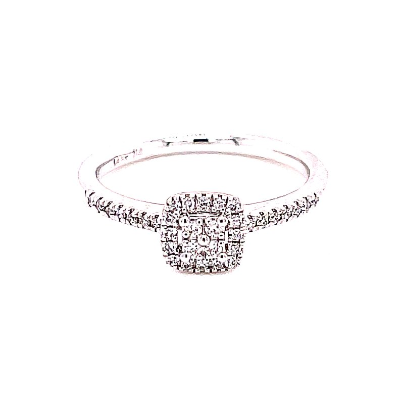 Bryan Beauties Diamond Halo Ring with Four Diamond Center