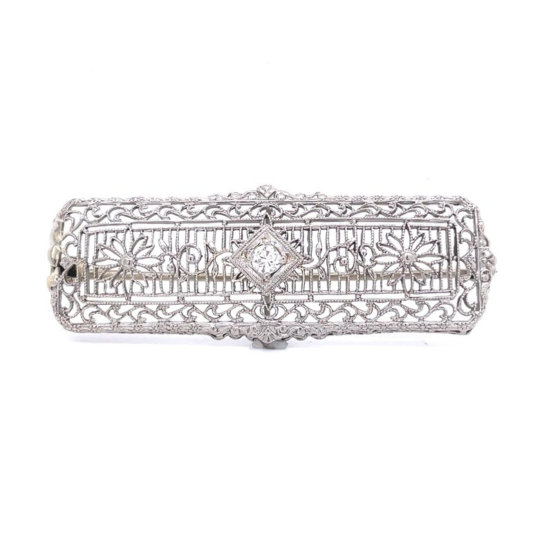 Previously Loved Filigree Diamond Brooch