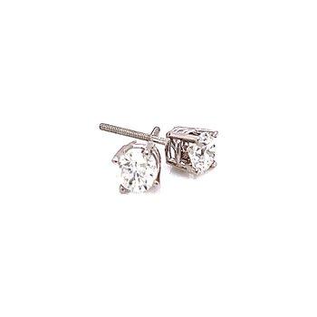 3/4ctw Diamond Studs-14kw-Screwbacks