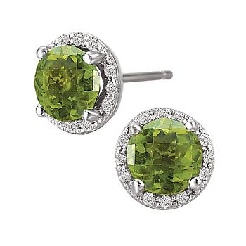 Ladies Fashion Gemstone Earrings-6mm