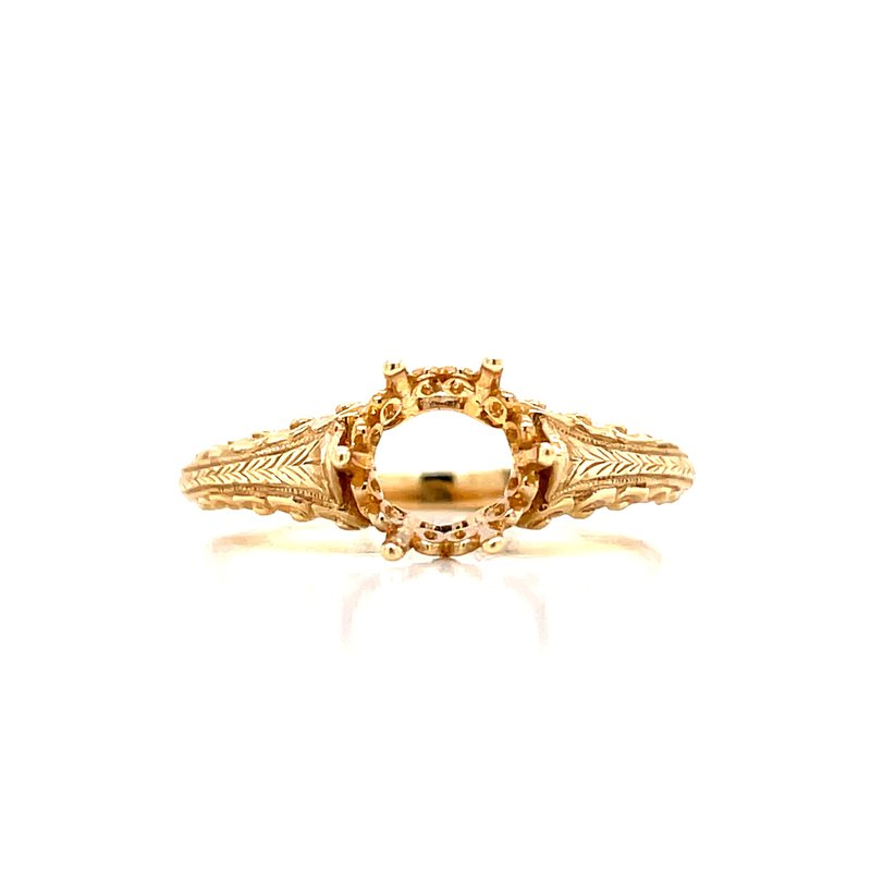 Bryan Beauties Six Prong Vintage Solitaire Setting-14ky
