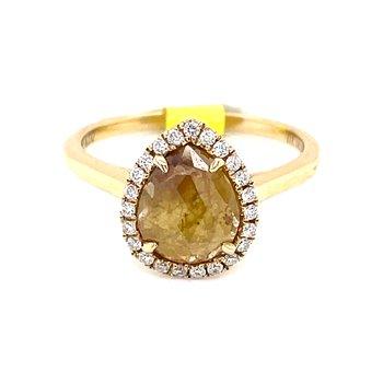 Caramel Drop Diamond Ring