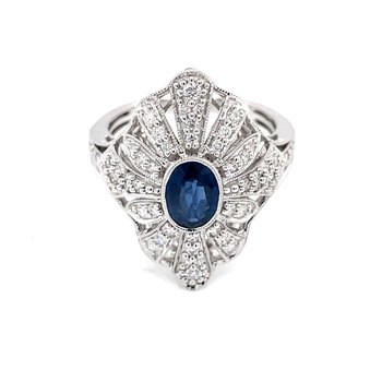 Laced with Diamonds SapphireRing