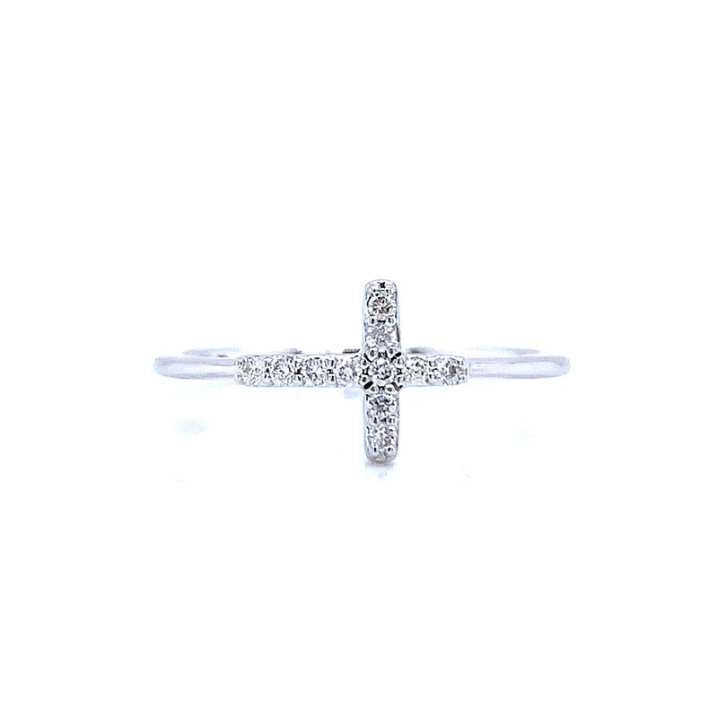 Ostbye Expressions of Faith Sideways Cross Ring