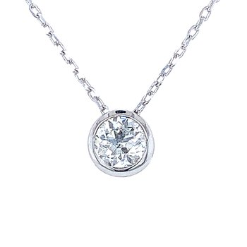 Bezel Set Diamond Pendant 1/3 ct