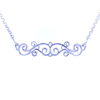 Trapeze/Bar Scroll Necklace