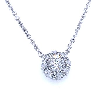 Halo Diamond Necklace 1/2ctw