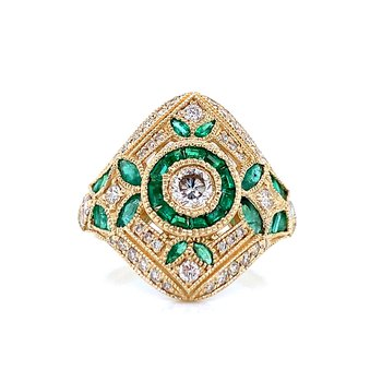 Emerald Tapestry Ring