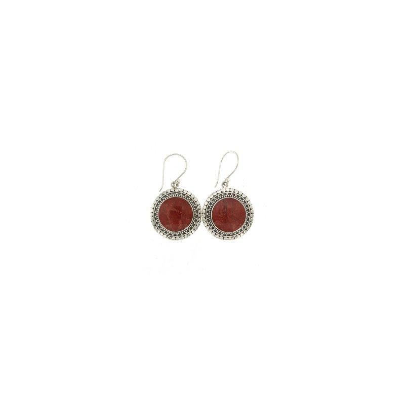 Bryan Beauties Red Coral Earrings