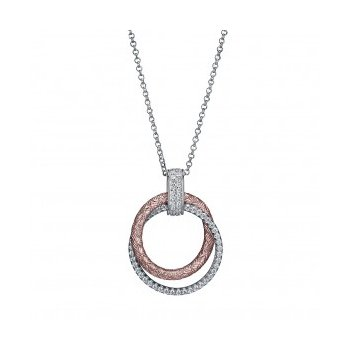 Simply Circular Two-tone (Sterling & Rose) Pendant