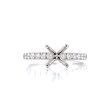 Prestigious Diamond Semi-mount to match 1/3ctw Band-14kw