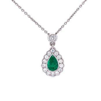 Elegant Emerald Pendant