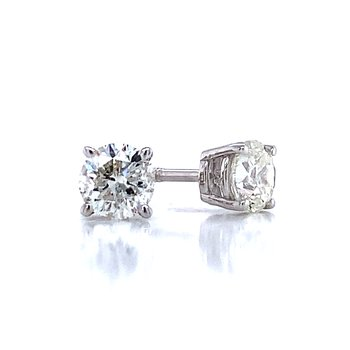 1ctw Diamond Studs-Screw backs