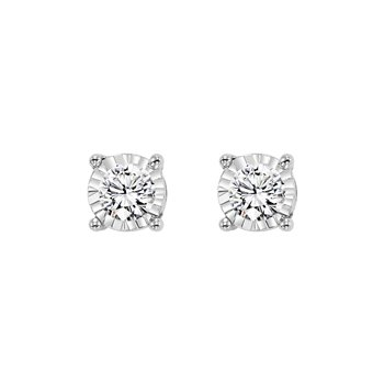 Tru-reflections Diamond Studs in 1/4ctw.