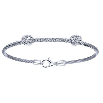 Hampton Steel Cable Bracelet