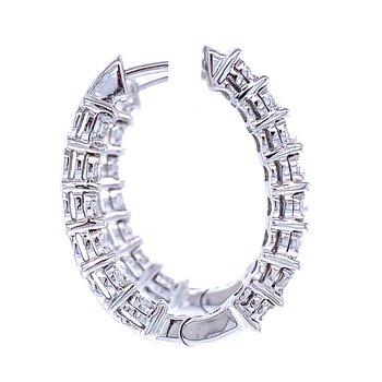 Tru-reflections Diamond Hoops