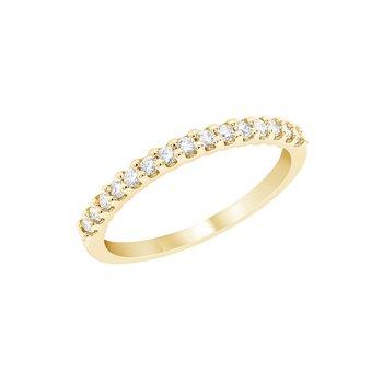 U-Prong Diamond Band 1/10ctw 14ky