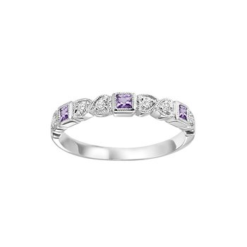 Mixables Amethyst and Diamond Band