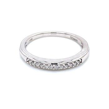 Pave' Set Diamond Band-1/10ctw-14kw