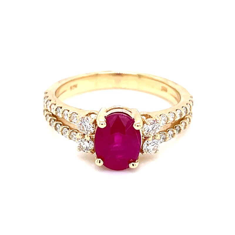 Bryan Beauties Dynamic Ruby and Diamond Ring