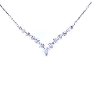 Graduated Diamond Chevron Necklace