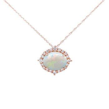 Find Your Direction Opal Pendant - Rose Gold