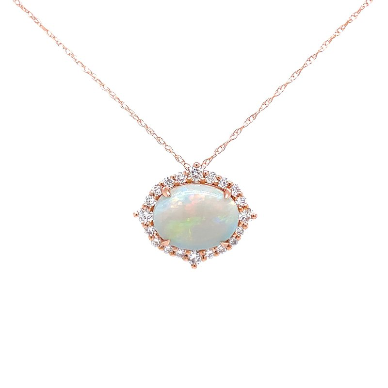 Bryan Beauties Find Your Direction Opal Pendant - Rose Gold