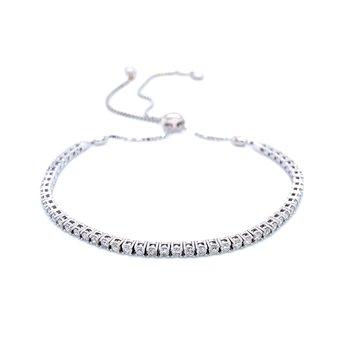 1ctw Diamond Bolo Bracelet-14kw