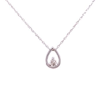 Diamond Pendant with Tear Drop Frame