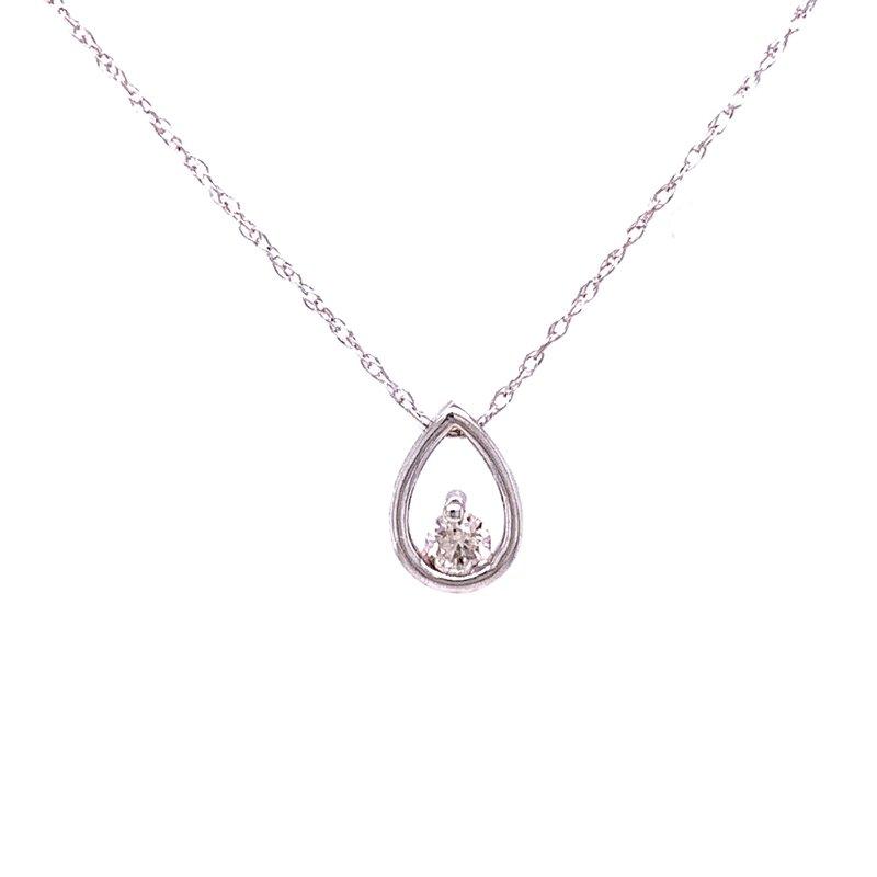 Bryan Beauties Diamond Pendant with Tear Drop Frame