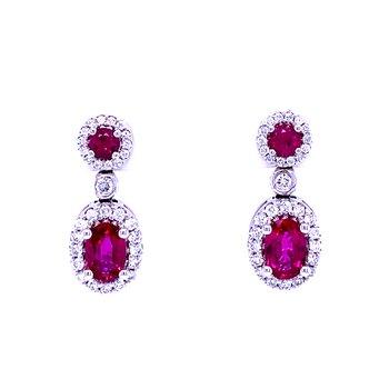 Set the Scene Ruby & Diamond Dangles