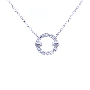 Dressed Up Diamond Circle Pendant
