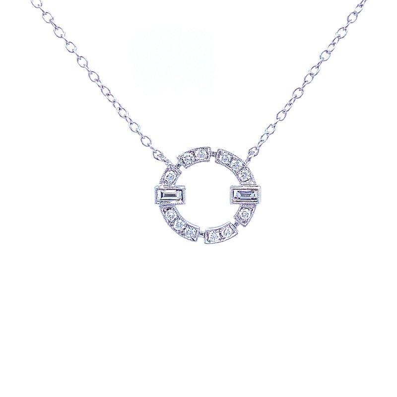 Bryan Beauties Dressed Up Diamond Circle Pendant