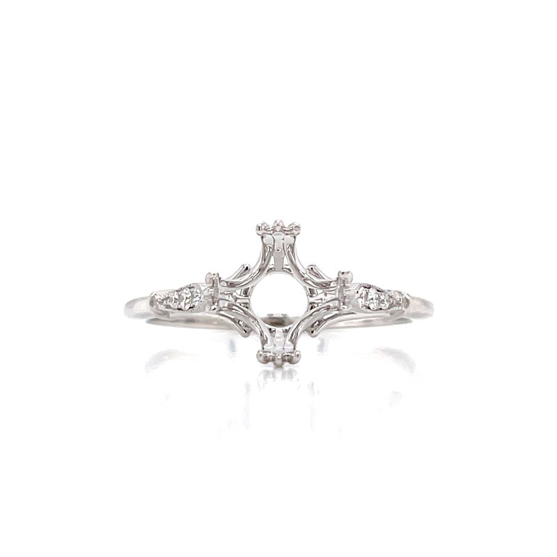 Bryan Beauties Double Prong Semi-mount with Vintage Vibe