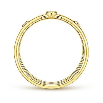 Gabriel NY Fashion Ring 51278 14k Yellow