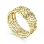 Bryan Beauties Gabriel NY Fashion Ring 51278 14k Yellow