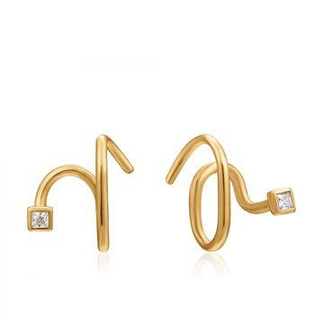 Twist Square Sparkle Earrings
