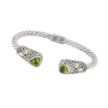 Peridot Bali Bracelet
