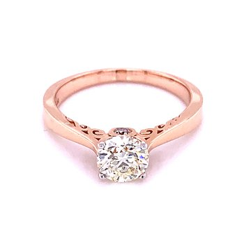 Happy Diamond Ring - 14k Rose Gold