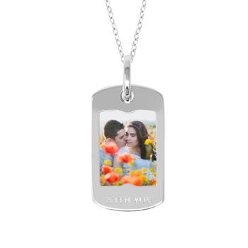 Annie Sterling Silver Dog Tag Locket Necklace