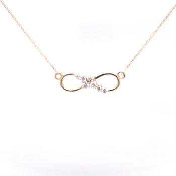 Infinity 1/5ctw Diamond Necklace-14ky