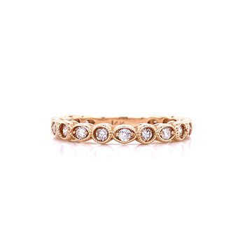 Stackable Shapes Diamond Wedding Band-14ky